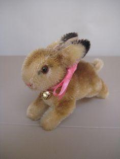 Steiff Vintage Mohair Hoppy konijn 1950 tot en met door GrandmaJer