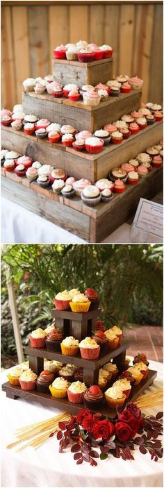 Wooden crate wedding cake stand decor / http://www.deerpearlflowers.com/rustic-woodsy-wedding-trend-2018-wooden-crates/ #rusticweddings #countryweddings #rusticdecorations
