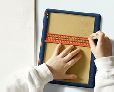 Barrier-Free Braille Board - The conceptual 'Barrier-Free Braille Board' has been designed as an upgrade to traditional braille writing accessories to help users se. Friendly Nails, Red Dot Design, Slate, Concept, Writing, Paper, Yanko Design, Board, Archive