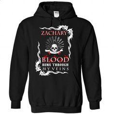 (Blood002) ZACHARY Blood Runs Through My Veins - #T-Shirts #capri shorts. ORDER…