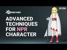 Techniques for NPR character Blender 3d, Blender Models, Blender Character Modeling, 3d Model Character, Character Design, Character Concept, Cinema 4d Tutorial, 3d Tutorial, Zbrush