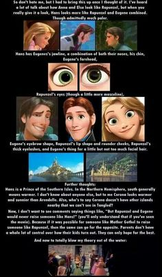 But Eugene can't be related with him because those other two gangsters are rather related to Hans. But maybe Rapunzel (so King and Queen of Corona too) are related to King and Queen of Southern Isles? So maybe...idk Hans mom is sister of Rapunzels dad or something? seems possible. Princesses are married with other kingdoms' kings was common.