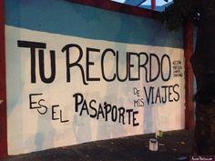 Tu recuerdo es el pasaporte de mis viajes  #rima #accionpoetica