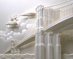 Jeff Nishinaka - paper sculpture - Brooklyn Bridge