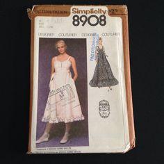 Vtg Gunne Sax Dress Pattern Uncut Simplicity 8908 Boho Sz 10 Lace Sundress 1979