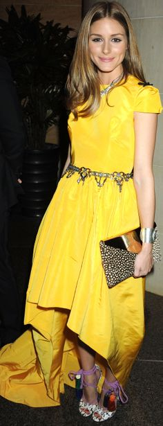 While we don't expect Olivia Palermo to walk down the aisle in yellow, is this dress hinting at her wedding gown??