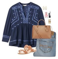 La Vie est belle. by oh-so-rachel on Polyvore featuring polyvore, fashion, style, Rebecca Taylor, Abercrombie & Fitch, Jack Rogers, Tory Burch, Kendra Scott, Yves Saint Laurent, Smashbox, Marc Jacobs and clothing