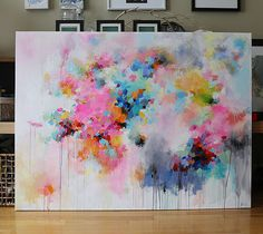 Large Abstract paintingoriginal abstract painting by artbyoak1