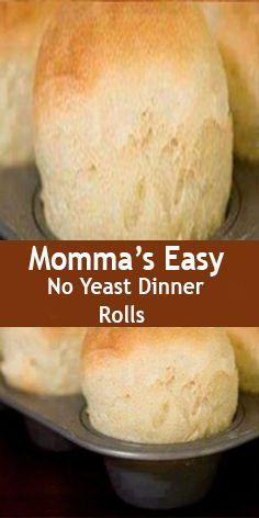 no yeast bread Mommas Easy No Yeast Dinner Rolls Recipe Breads with flour, baking powder, salt, milk, mayonnaise. Ww Recipes, Bread Recipes, Baking Recipes, Recipies, Recipes Dinner, Recipes With Flour, Yeast Free Recipes, Fast Recipes, Milk Recipes