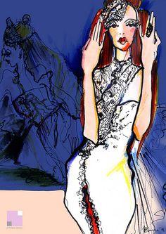 EFTIMOV SPOSA    Custom made bridal wear  Illustration: Aleksandra Jovanovska for Nikola Eftimov  Design & editing: Nikola Eftimov