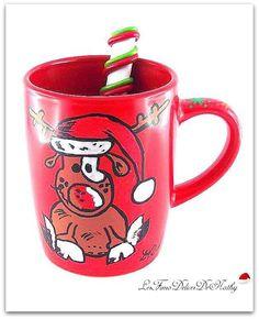 Mug Noël Rudolph le petit renne : Vaisselle, verres par lesfimodelicesdenathy