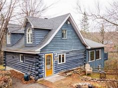 La Maison Bleue - Chalets for Rent in Brownsburg-Chatham, Quebec, Canada Quebec, Renting A House, Ideal Home, Tourism, Shed, Cottage, Outdoor Structures, Cabin, Vacation