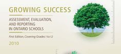 """Growing Success"" Document talks about general assessment for all areas of instruction that assists teachers on various techniques and strategies."