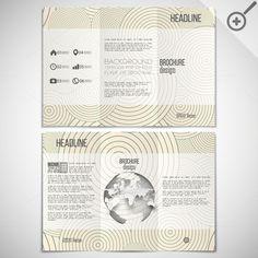 Tri-fold brochures by VectorShop on Creative Market