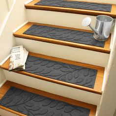 Aqua Shield Camel Brittany Leaf Stair Tread (Set Of
