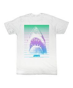 Loving this White 'Jaws' Neon Retro Tee - Toddler & Kids on #zulily! #zulilyfinds