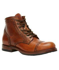 FRYE FRYE MEN'S LOGAN BROGUE LEATHER BOOT. #frye #shoes #
