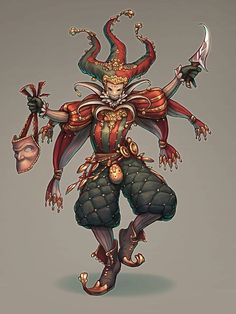 The Character Design Challenge! Art by Christoffer Svensson Character Creation, Character Concept, Character Art, Concept Art, Dnd Characters, Fantasy Characters, Clowns, Pen & Paper, Arte Horror