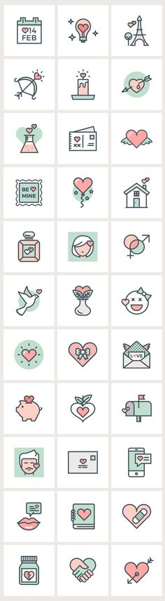 #Valentine's Day Flat Line #Icons                                                                                                                                                                                 Mehr
