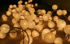 Ping Pong Ball Lights - The Surznick Common Room