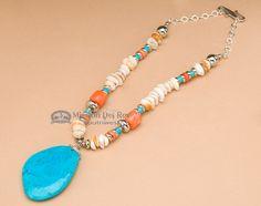 "Classic Southwestern Pendant Necklace 18"""" (j135)"