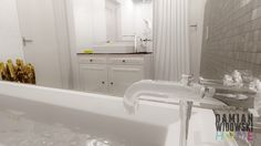 Visit my page: http://facebook.com/damianwidowskihome  Bathroom design with the attic entrance, Lublin, PL (2013) #bathroom #concept #design #toilet #attic #additionaldoor #urban #male #metal #technodesign #duravi #axor #hansgrohe #citterio #axorcitterio #duravit2ndfloor #tomdixon #foscarini #zarahome #driade #porcelanosa #dune #duneceramics #mosaics #tiles #vasco #spotline #bigwhite #łazienka #projekt