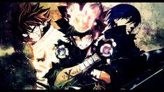 Anime Crossover  Fairy Tail Hitman Reborn Tsunayoshi Sawada Natsu Dragneel Hei (Darker Than Black) Ciemniejszy Niż Czarny Tapeta