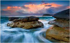 Beach Rocks Sunset Wallpaper | beach rocks sunset wallpaper 1080p, beach rocks sunset wallpaper desktop, beach rocks sunset wallpaper hd, beach rocks sunset wallpaper iphone