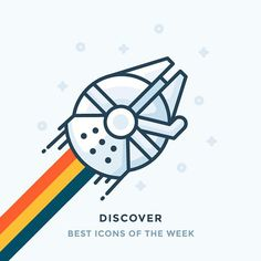 Millennium Falcon brings good news! This time it's Best Icons of the Week! Check out full collection on my blog. Link in the bio. #starwars #millennium #millenniumfalcon #falcon #fast #icon #outline #illustration #graphic #design #icondesign #art #iconography #vector #art #iconaday by iconutopia