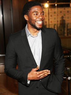 Star Tracks: Monday, January 26, 2015 | SMILE FILE | Also at the Artios Awards, Get on Up star Chadwick Boseman flashes his pearly whites.