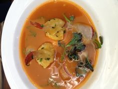 David Burke Kitchen (Soho, NYC): lobster soup with lobster dumpling and apple. Didn't try this either but heard it was good.