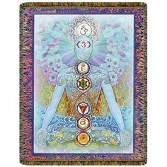 Chakra Man Sky Blue Tapestry Throw Blanket  #yoga #blanket #healing #meditation #home #homedecor #decorating #reiki #spa #salon #healing #chakra #chakraman #sky #blue