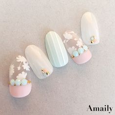 Summer Nail Designs - My Cool Nail Designs Happy Nails, Fun Nails, Pretty Nails, Bling Nails, Stiletto Nails, Flower Pedicure Designs, Pedicure Ideas, Asian Nails, Summer Toe Nails