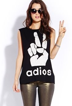 Adios Muscle Tee   FOREVER21 #Capsule #GraphicTee I totally own this shirt!! I think I'll wear it to the beach today and flex my awesome arms in it!! (: