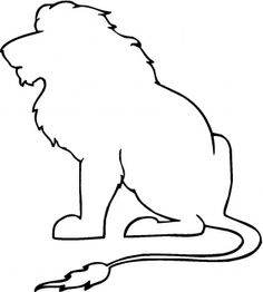 dibujos siluetas de animales | King of the Jungle Outline coloring page | Super Coloring