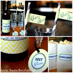 Oscar Party Supplies | Oscar+Party_Free+Printables_Yellow+Chevron_Modern+Party+Decor.jpg