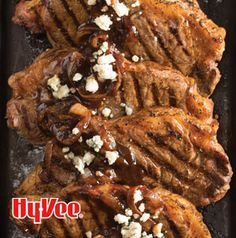 Have a steakhouse experience at home. Grilled New York Strips with Caramelized Onion Sauce are just that good.