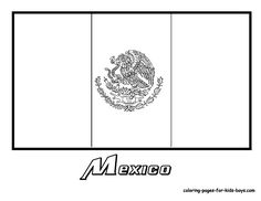 Mexico Flag Coloring Page You have all the Mexico States flags to