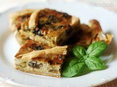 Sezónny slaný koláčik, veľmi jednoduchý a dobrý . Russian Recipes, Spanakopita, French Toast, Sandwiches, Chicken, Meat, Breakfast, Ethnic Recipes, Food