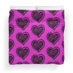 Zentangle Valentine Heart 2 Alternate Duvet Image