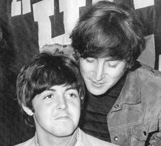 Paul McCartney and John Lennon of The Beatles.
