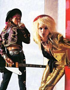 Hanoi Rocks. Sami Yaffa & Michael Monroe