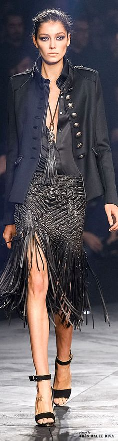 Milan Fashion Week Roberto #Cavalli Fall/Winter 2014 RTW #provestra