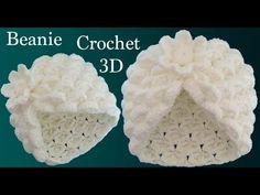 Gorro a Crochet punto marshmallow y flor en punto tunecino tejido tallermanualperu - Смотреть видео бесплатно онлайн Crochet Doily Rug, Bonnet Crochet, Crochet Beanie, Crochet Stitches, Knit Crochet, Crochet Hats, Crochet Flor, Stitch Crochet, Bobble Stitch
