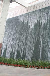 Focus water wall at Aria in Las Vegas