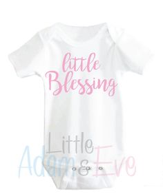 Little Blessing Onesie, Christian Baby Onesie for your little Sweetheart! We have so many adorable Onesies! Check out our Online Store!