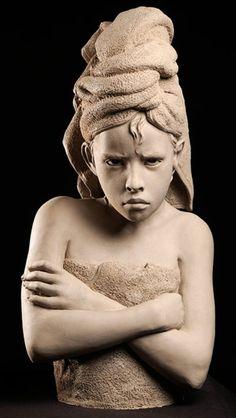 Portrait Sculpture by Philippe Faraut Sculptures Céramiques, Sculpture Clay, Ceramic Figures, Ceramic Art, Portrait Sculpture, Wow Art, Art Moderne, Land Art, Amazing Art