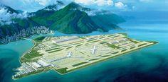 Аэропорт будущего в Гонконге. Старое здание аэропорта было построено в 1998 году на «искусственном острове» Чек-Лап-Кок. Сейчас за день до вылета вы можете погрузить багаж на специальный экспресс от аэропорта, и он будет доставлен прямиком на борт вашего самолета.
