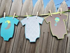 ONESIES Boy Baby Shower Banner in Turquoise Lime by golferandwife, $21.00