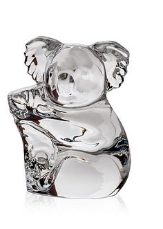 Steuben Crystal Koala Hand Cooler Paperweight Corning Museum Of Glass, Glass Museum, Steuben Glass, The Fray, American Craftsman, Glass Animals, Paper Weights, Crystals, Koalas